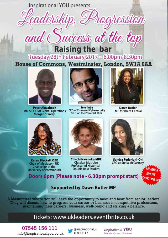 Leadership at the top – House of Commons – Tuesday 28th February